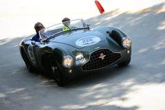 1952年阿斯顿・马丁在Mille Miglia的DB3 S 库存图片