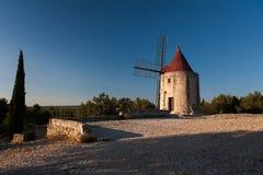 阿方斯Daudet磨房在Fontvieille,法国 图库摄影