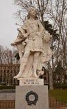 阿方索国王雕象III阿斯图里亚斯(大约1753)。马德里 库存照片