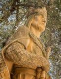 阿方索雕象x在科多巴,西班牙 图库摄影
