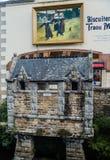 阿旺桥,在布里坦尼不列塔尼的菲尼斯泰尔省部门的公社 图库摄影