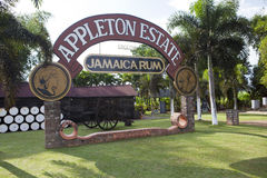 阿普尔顿兰姆酒的生产的植物2011年10月29日的在牙买加 免版税库存图片