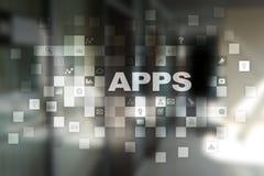 阿普斯发展概念 事务和互联网技术 免版税库存照片