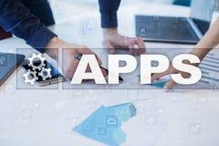 阿普斯发展概念 事务和互联网技术 免版税库存图片