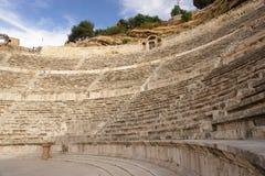 阿曼圆形剧场罗马的乔丹 库存图片