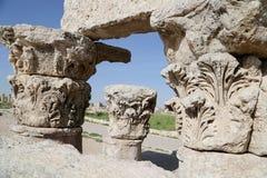 阿曼市地标--老罗马城堡小山,约旦 免版税库存图片