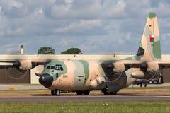 阿曼洛克西德・马丁C-130J赫拉克勒斯军事运输航空器英国皇家空军  库存图片