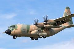 阿曼洛克西德・马丁C-130J赫拉克勒斯军事运输航空器英国皇家空军  图库摄影