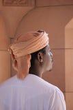阿曼清真寺的监护人 库存图片