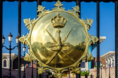 阿曼的国徽 免版税库存图片