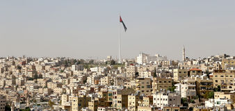 阿曼的地平线,约旦看法 库存照片