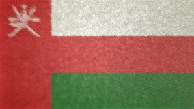阿曼的旗子的原始的3D图象 免版税库存照片