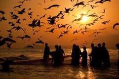 阿曼的渔夫 免版税库存图片