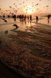 阿曼的渔夫 免版税库存照片