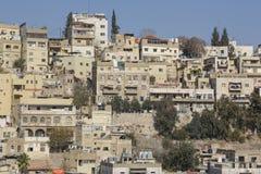 阿曼,约旦, 2015年12月22日,阿曼都市风景  免版税图库摄影