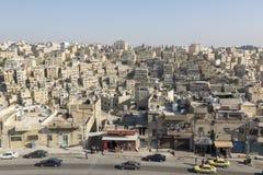 阿曼,约旦, 2015年12月22日,阿曼都市风景  免版税库存照片
