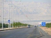 阿曼,约旦- 2008年11月6日:在山的路。 免版税库存图片