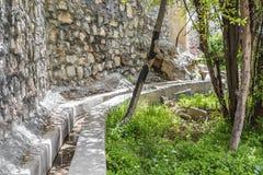 阿曼Saiq高原水交付 库存图片