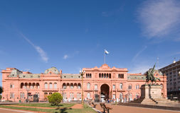 阿根廷住处宫殿总统rosada 库存图片