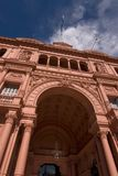 阿根廷住处宫殿总统rosada 免版税库存图片