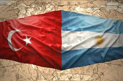 阿根廷和土耳其 库存例证