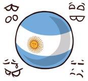 阿根廷国家球 向量例证