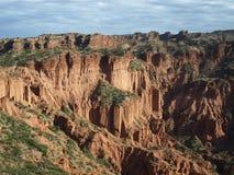 阿根廷峡谷en las luis quijadas圣 图库摄影