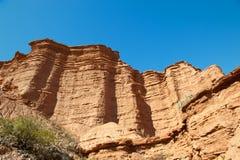 阿根廷峭壁红色 免版税库存图片