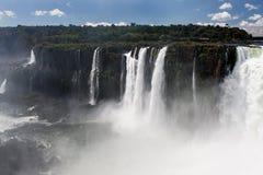 阿根廷巴西峡谷秋天iguassu 免版税库存图片