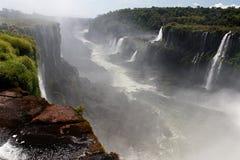 阿根廷巴西峡谷秋天iguassu 库存照片