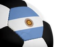 阿根廷旗标橄榄球 图库摄影