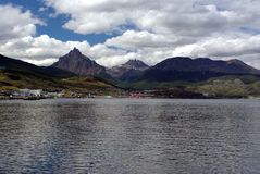 阿根廷海湾ushuaia 图库摄影