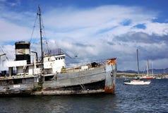 阿根廷港口ushuaia 免版税库存照片