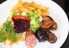 阿根廷烤肉用沙拉 图库摄影