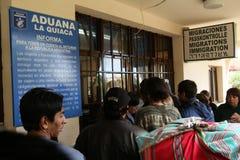 阿根廷玻利维亚人边界 免版税库存照片