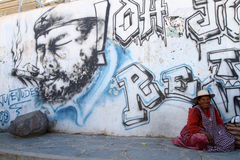 阿根廷玻利维亚人边界 免版税库存图片