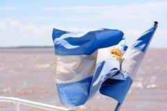 阿根廷的旗子, 免版税库存图片