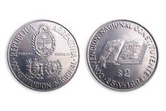 阿根廷硬币编辑特殊 图库摄影