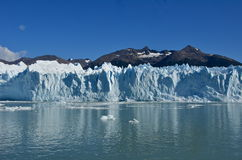 阿根廷美丽的冰川莫尔诺perito 库存图片
