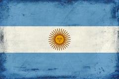 阿根廷背景葡萄酒国旗  库存照片