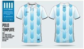 阿根廷队马球T恤杉体育足球球衣、橄榄球成套工具或者sportwear的模板设计 经典衣领体育制服 库存例证