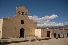 阿根廷cachi教会殖民地观光 免版税图库摄影