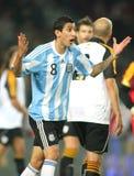 阿根廷di footballer ・玛丽亚 免版税库存照片