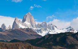 阿根廷fitz山巴塔哥尼亚roy 免版税库存图片