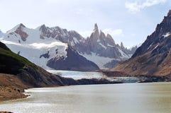 阿根廷fitz巴塔哥尼亚roy 图库摄影