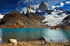 阿根廷fitz挂接巴塔哥尼亚roy 图库摄影