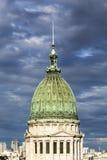 阿根廷全国代表大会1的宫殿 免版税库存照片
