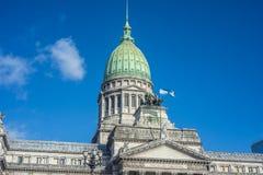 阿根廷国家的国会 免版税库存照片