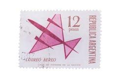 阿根廷-大约1963年:增加邮票,封印显示 图库摄影