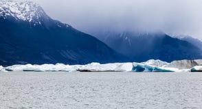 阿根廷湖Upsala冰川 图库摄影